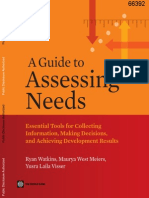 Guide to Assessing Needs