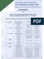 Pengumuman PA FT Smt Gnp 2013-2014