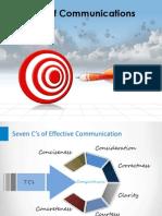 The Seven Cs of Communication