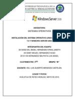 Reporte de Instalacion de Sistemas Operativo