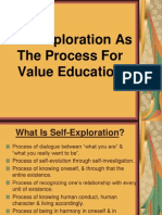 Self Exploration as the Process for Value Education