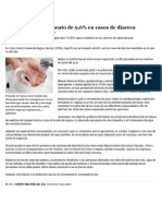 Caja Reporta Incremento de 9,6% en Casos de Diarrea