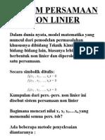 5. Sistem Persamaan Non Linier