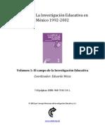 Volumen 1 El Campo de La Investigación Educativa_indice