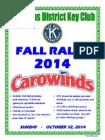 fall rally 2014 flyer for key club