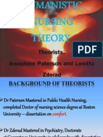 Humanistic Nursing Theory by Paterson and Zderad