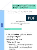 2311-MDGs Are Human Development Goals - Presentation