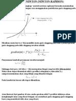 metode numerik newton