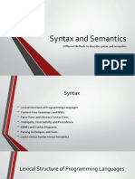 Syntax and Semantics - Methods