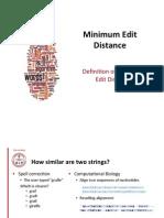 Calculating minimum edit distance