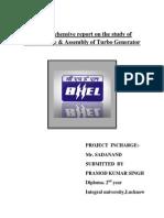 A Project Report on Turbo Generators Final Report