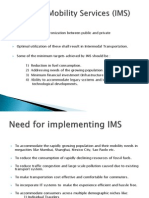 Individual Mobility Services (IMS)