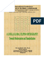 Yap a Look @ Global Filipino Orthography