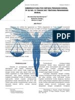 Perlakuan Dan Pemberian Fasilitas Kepada Penanam Modal Menurut Perspektif UU No.25 Tahun 2007 Ttg Penanaman Modal