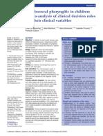Streptococcal Pharyngitis in Children