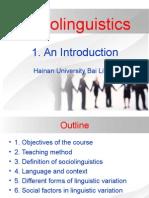 Sociolinguistics an Introduction