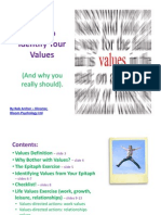 Bloom Psychology - Values Workbook (Summary)