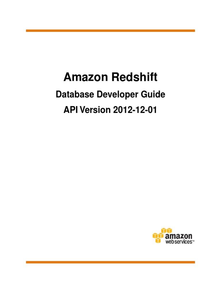 Redshift Dg | Amazon Com | Sql