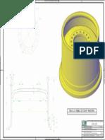 Aro Da Roda Da Carregadeira 938H-Dimensões e Vista 3D - PB
