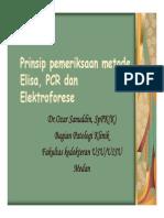 Slide Prinsip Pemeriksaan Metode Elisa - Pcr Dan Elektroforese