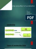 Leadership and Socialisation