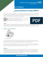 Benignparoxysmalpositionalvertigo-patientinformation