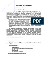 Measures of Dispersion Handouts New