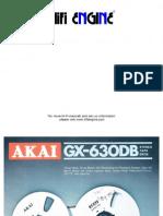 Akai Gx-630db Brochure
