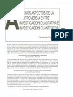 47082117 Cortes Fernando 2000 Algunos Aspectos de La Controversia Entre La Investigacion Cualitativa y La Investigacion Cuantitativa