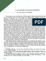 Knox -Hegel's Attitude to Kant's (Kant.1958.49.1-4.70)