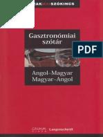 Gasztronomiai Szotar Angol Magyar