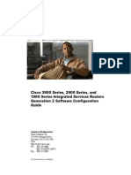 Cisco 3900 Series, 2900 Series, And 1900Series IntegratedServicesRouters Generation 2 Software Configuration Guide
