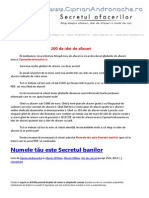 200 de Idei de Afaceri Marca CiprianAndronache.ro