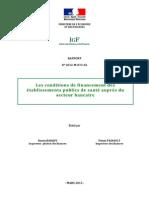 Conditions de Financement Secteur de Santé en France
