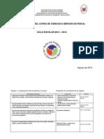 dosificación 2014 - 15