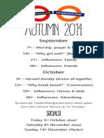 2014 09-10 Autumn Termcard - 1st half term