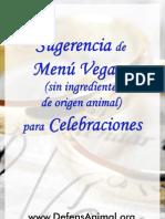 Recetario Vegano para Celebraciones