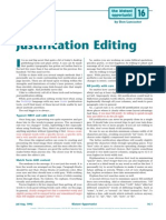 Post Justification Editing