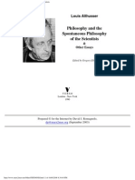 1990, Philosophy and the Spontaneous Philosophy of the Scientists