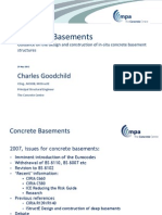 Concrete Basements, Design and Construction Guide - The Concrete Centre