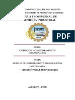 Modelos de Comportamiento Organizacional UNSA