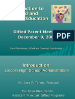Introduction to Gifted and Talented Education