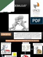 desalojo - diapositivas
