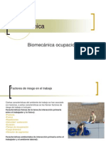 Clase # 8 (Biomecanica Ocupacional)