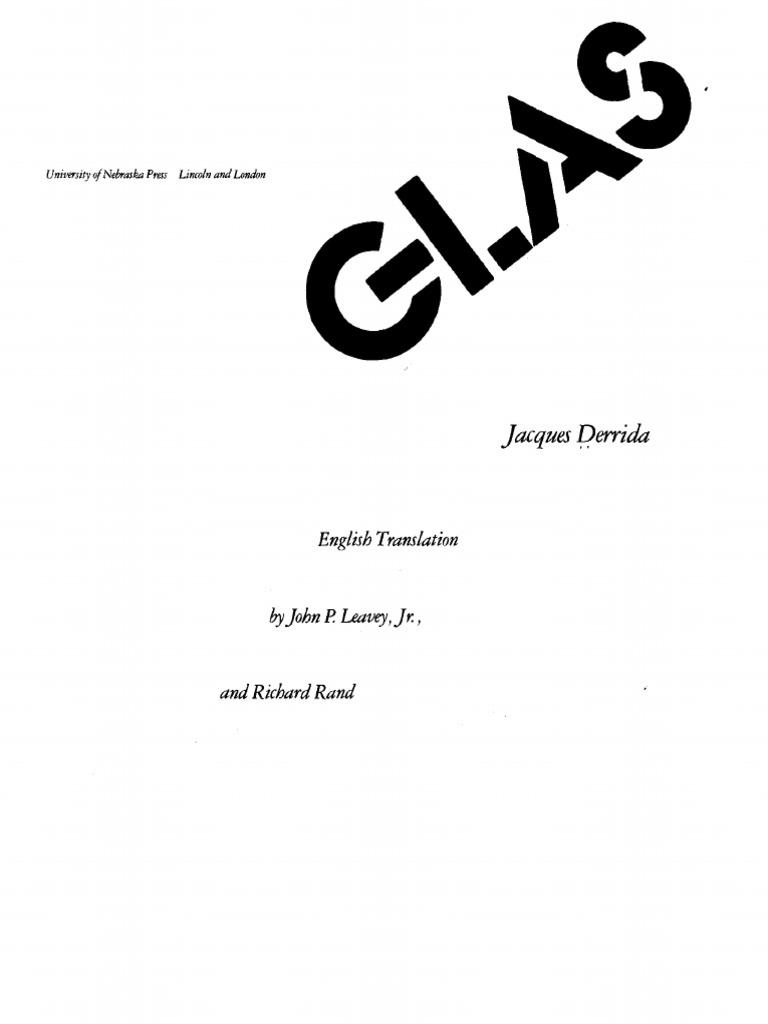 Georg Wilhelm Hegel Glas Jacques Friedrich Derrida EIg5PqW