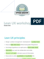 Lean UX for Startups