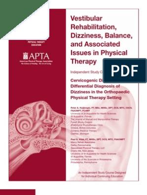 Cervicogenic Dizziness and DDx   Vertigo   Physical Therapy