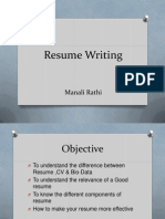 Resume Letterwriting