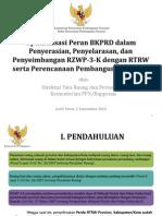 Optimalisasi Peran Badan Koordinasi Penataan Ruang Daerah (BKPRD) dalam Penyerasian, Penyelarasan, dan Penyeimbangan RTRW dan RZWP-3-K serta Perencanaan Pembangunan Daerah