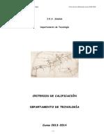 Criterios de Calificacion Tecnologia 2013_2014